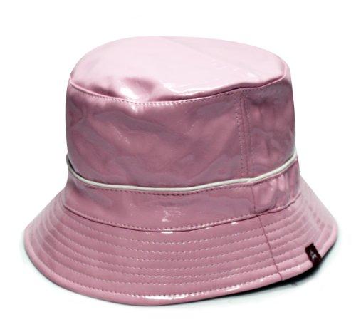 City Hunter Bd2040 Patent Rain Bucket Hats - Pink (L/xl (Patent Rain Hat)