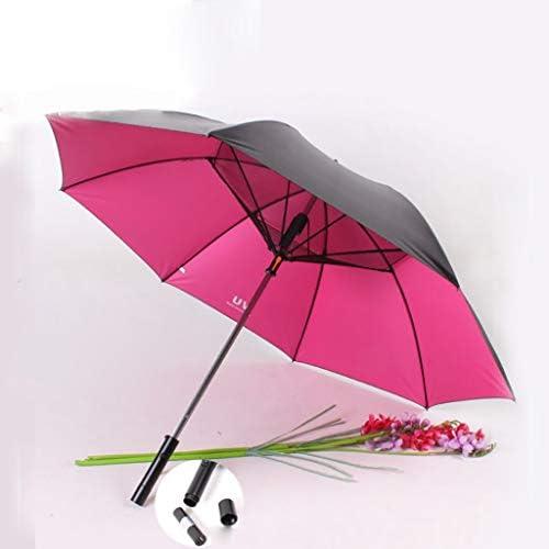 GR5AS UV保護傘、内蔵のファン、大規模なアップグレードスティック傘、ゴルフ傘防風、電動ファンストレートロッドスイッチUSB電源8つのリブ日光雨の日の二重目的 (Color : B)