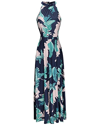 STYLEWORD Women's Off Shoulder Elegant Maxi Long Dress(Floral 01,L)