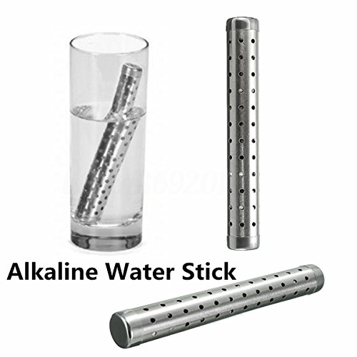 TSSPLUS Alkaline Hydrogen Portable Water Ionizer Stick Stainless Health pH Lonizer Sealed with Plastic Wrapper Great Tasting Alkaline Water Filter Water Travel Size by TSSPLUS
