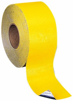 Mutual 17793 Engineering Grade Foil Backed Pavement Marking Adhesive Tape, 50 yds Length x 4'' Width, Yellow