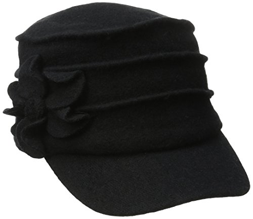 san-diego-hat-company-womens-wool-cadet-with-right-side-flower-black-one-size