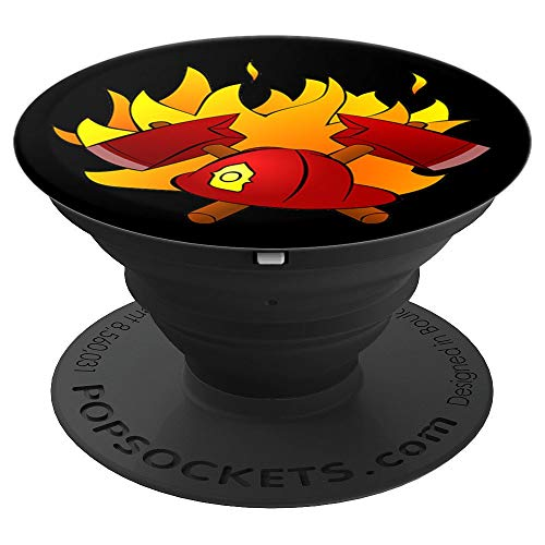 Firefighter Fireman Pop Socket Gift for Firefighters - PopSockets Grip and Stand for Phones and Tablets