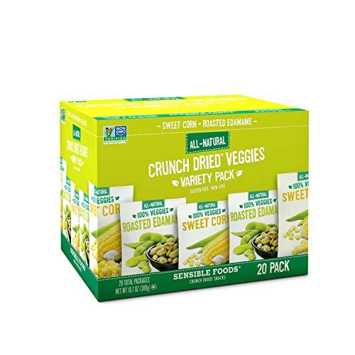 Sensible Foods Veggie Variety Pack Corns and Edamame (2-pack) Kosher - Gluten Fee - Non GMO Verified