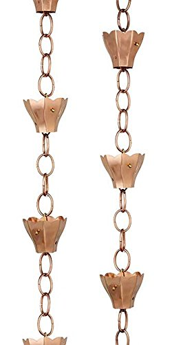 BestNest Set of 2 Good Directions Tulip Rain Chains, Polished (Good Directions Tulip)