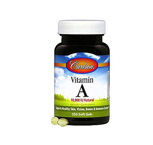 Carlson Labs Vitamin A 10000iu Softgels, 250 Count