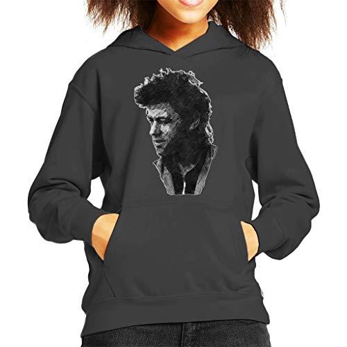 TV Times Pop Singer Bob Geldof 1986 Kid's Hooded Sweatshirt Charcoal