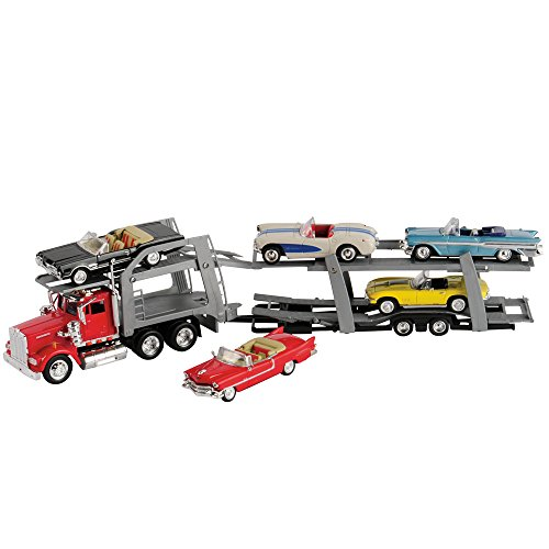 CP Toys 18 inch Classic Car Transport with Five Die Cast Classic Convertibles