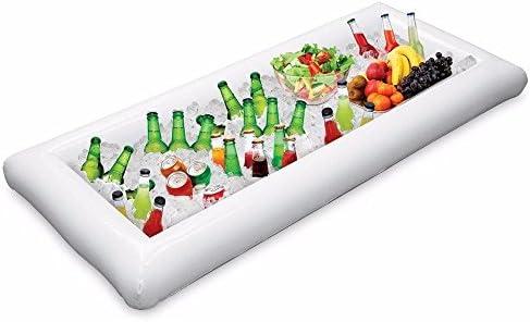 1 piezas Servicio de buffet inflable y barra de ensaladas Cubos de hielo Refrigerador de alimentos Bandeja inflable de la bebida de la cerveza, ...