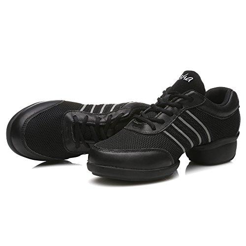 Hommes Modern gris T08 Plein Soft Chaussures Sport Noir mesh Femmes Cuir Gymnastique De de amp;jazz Modèle Danse Baskets Et Hipposeus Air Sneaker baskets Chaussons wn1IOApxqg