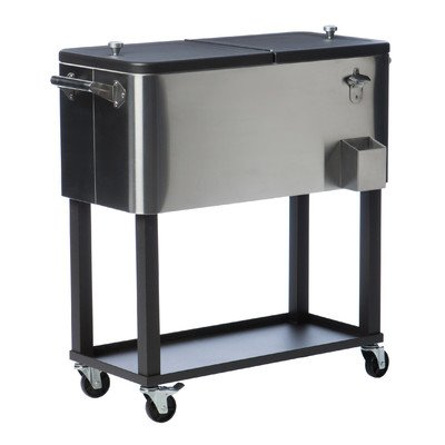 TRINITY TXK-0806 Cooler with Cooler Cover, Stainless Steel