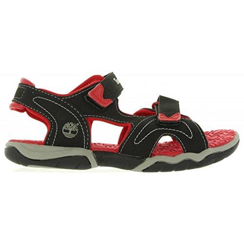 Sandalo Con Due Cinturini In Cerca Di Avventura In Legno (bimbo / Bimbo) Nero / Rosso
