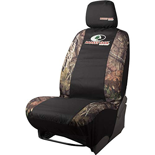 Mossy Oak Seat Car - Mossy Oak Camo Seat Cover, Low Back with Head Rest, Break-Up Country, Single
