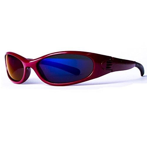 10 soleil le couleurs Lunettes différentes Bleu Miroir 4003 pour Foncé de Rouge sport wagwxT5Yqf