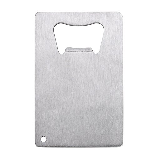 Aspire 60 PCS Beer Bottle Openers Stainless Steel Credit Card Size Cap Opener for Your Wallet -