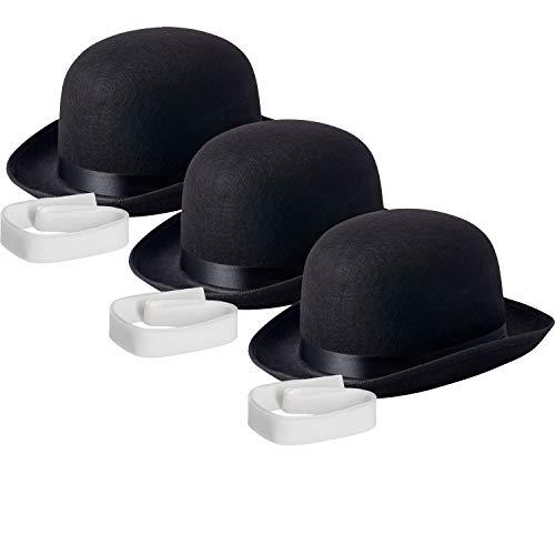 Bowler Hat Halloween Costume (NJ Novelty - Black Derby Hat, 5
