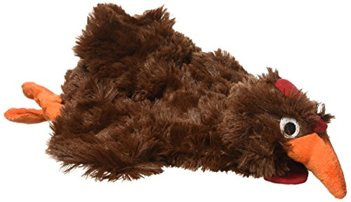 Doggles Plush Bottle, Chicken - Dark Brown