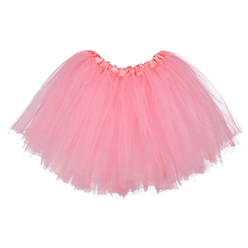 My Lello Little Girls Tutu 3-Layer Ballerina Bubblegum Pink (10 mo - 3T) -