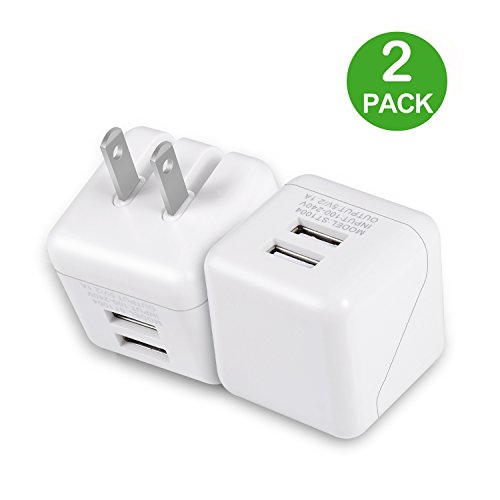 Cheap Wall Chargers USB Wall Charger, Dual USB Charger, Celltronics 2Pack 5V/2.1A Quick Charger Portable..