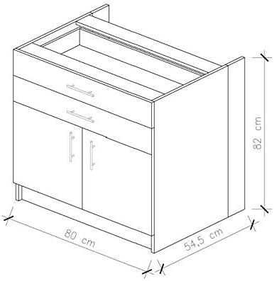 OBI Mobile base cucina L 80 cm bianco opaco