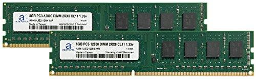 Adamanta 16GB (2x8GB) Desktop Memory Upgrade DDR3/DDR3L 1600MHz PC3-12800 Unbuffered Non-ECC UDIMM 2Rx8 CL11 DRAM RAM