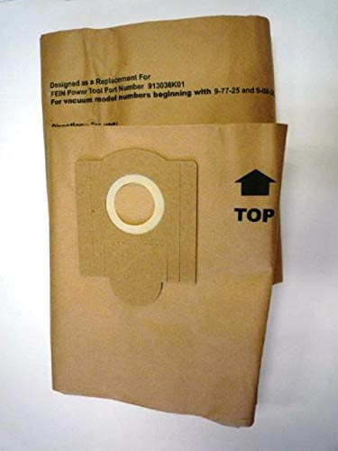 GK MicroPlus For Fein Power 913036K01 Turbo Ii Replacement Paper Dust Bag44; Pack of 36 ()