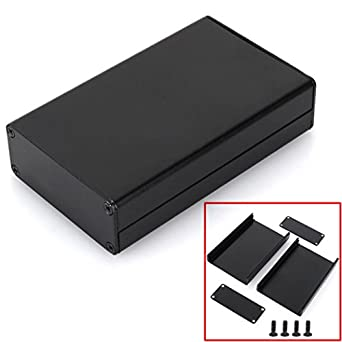 Black Extruded Aluminum Enclosure PCB Instrument Box DIY Electronic ...