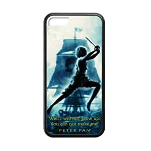 CTSLR Laser Technology Peter Pan TPU Case Cover Skin for Cheap phone ipod touch 5 ipod touch 5-1 Pack- Black - 4