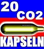 NEMT  20 Be 20 Stück CO2 Bierkapseln für alle Bierzapfanlagen mit 16 g CO2