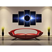 5 Pieces Unframed Universe Planets Oil Painting Moon Space Canvas Poster Print for Room Decoration