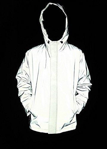 LANSHULAN Men's 3M Scotchlite Series Reflective High Visibility Jacket (S, Silver Grey)