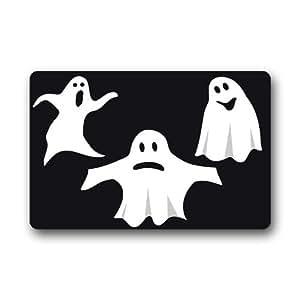 Funny Halloween Ghost SE PUEDE LAVAR A MÁQUINA. Felpudo antideslizante, 23,6(L) X 15,7(W) pulgada