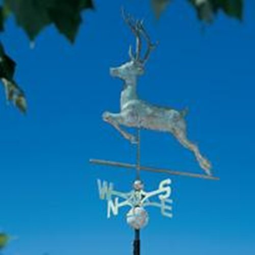 Whitehall Products Copper Deer Weathervane, Polished by Whitehall