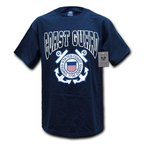Rapiddominance Coast Guard Classic Military Tee, Navy, Large