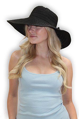 Women's Wide Brim Packable Sun Travel Hat For Large Heads - Ginger (XLarge, - Large Heads