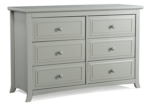 Fantastic Deal! Graco Kendall 6 Drawer Double Dresser, Pebble Gray