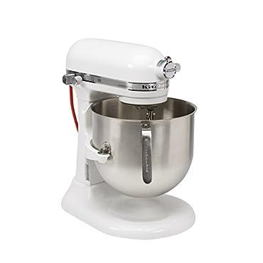 KitchenAid KSM-8990WH 8-Quart Stand Mixer with Bowl Lift (White)