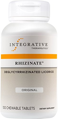 Integrative Therapeutics - Rhizinate - Deglycyrrhizinated Licorice (DGL) - Original Licorice Flavor (Sore Throat Tabs 100 Tablets)
