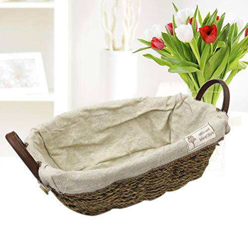 [해외]NATFUR 1PC Flower Pot Basket Woven DesktopHandles Portable Decoration for Tidy-Up / NATFUR 1PC Flower Pot Basket Woven DesktopHandles Portable Decoration for Tidy-Up