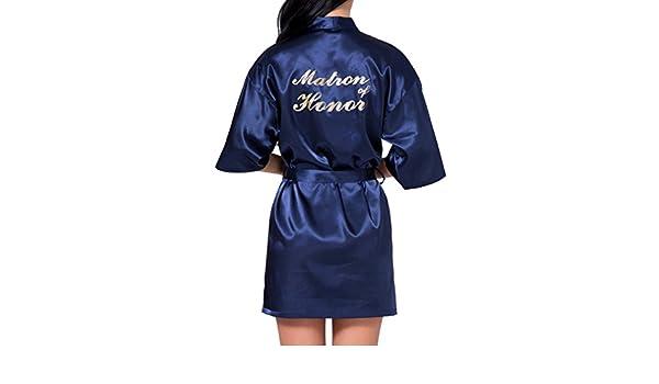 Kimono Túnica De Niña De Las Mujeres Satén Camisón De Dama De ...