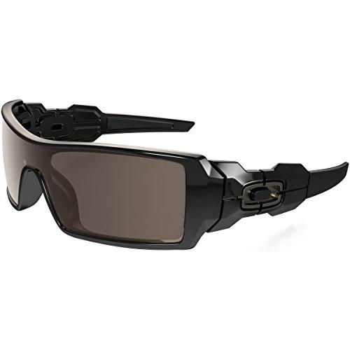 Oakley Oil Rig Mens Lifestyle Sunglasses - Polished Black/Warm Grey/One ()