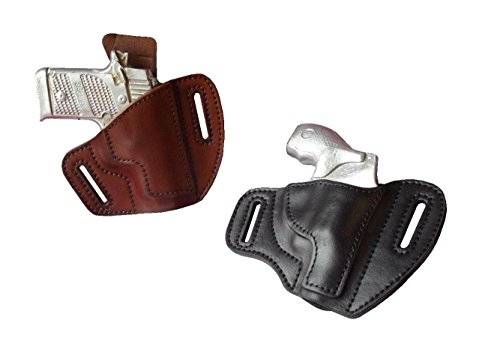 J&J Custom FIT Ruger LCP 2 II 380 W/Viridian R5 Laser OWB Pancake Belt Carry Formed Premium Leather Holster (Brown, Right)