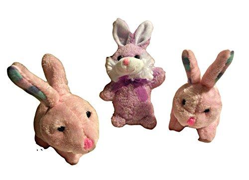 Plush Random Color 6 Inch Diy Easter Basket Bunnies (3 Piece Bundle)