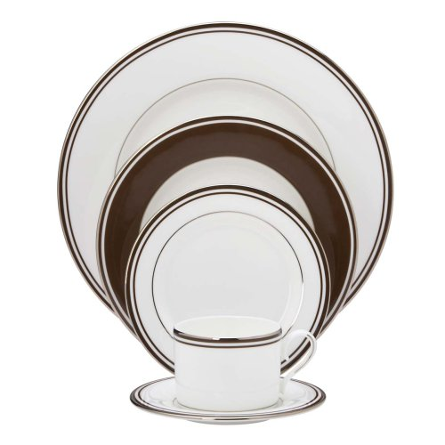 Lenox Federal Platinum 5-Piece Place Setting, Chocolate ()