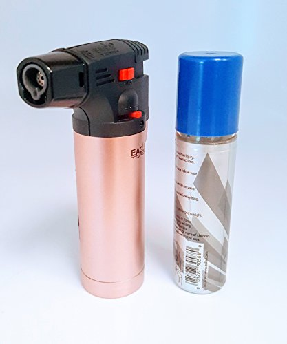 Eagle Iseries Jet Flame Butane Torch Lighter Refillable Windproof & butane (Pink (Pink Torch)