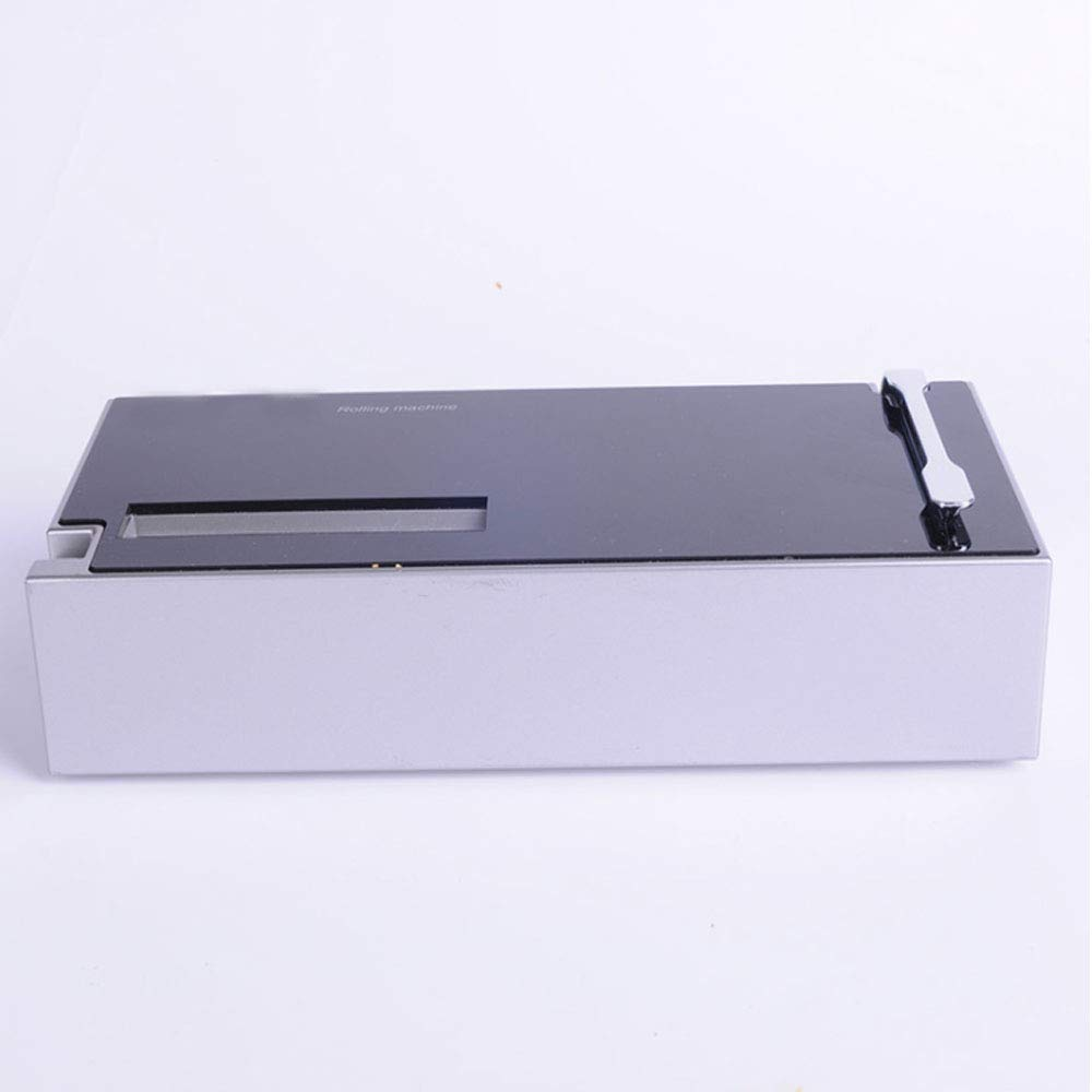 Black Square Type Electric Automatic Cigarette Rolling Machine Tobacco Maker Homemade Home Use Easy to Carry