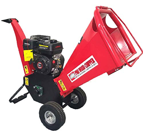 "Samson 6.5HP 195cc Gas Powered Wood Chipper Yard Machine Mulcher Shredder 4"" Capacity"
