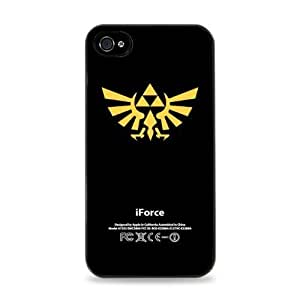 The Legend of Zelda iForce Yellow Apple for iPhone 4 / 4S Silicone Case- Black -191