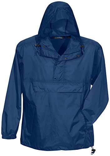 Tri-Mountain Men's Visor Hood Jacket w/Travel Pouch. (Lightweight Nylon Pullover)
