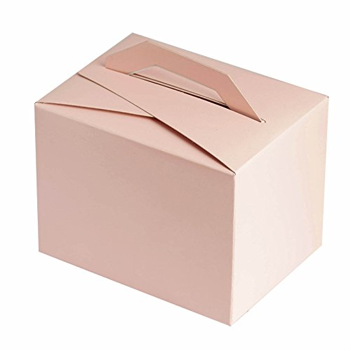 BalsaCircle 100 Blush Wedding Favors Tote Boxes with Handles for Wedding Party Birthday Candy Gifts Decorations Supplies Wholesale -
